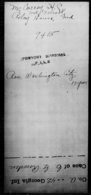 McCarrey, H S - State: Maryland - Year: [Blank]