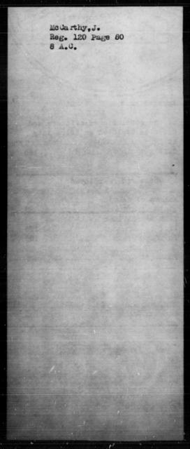 McCarthy, J - State: [Blank] - Year: [Blank]