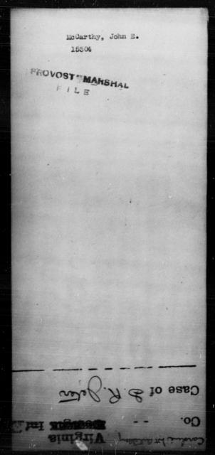 McCarthy, John E - State: [Blank] - Year: [Blank]
