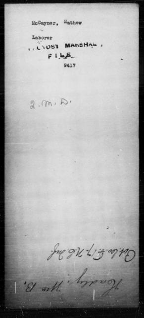 McCayner, Mathew - State: [Blank] - Year: [Blank]