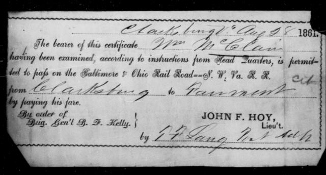 McClain, Wm - State: Virginia - Year: 1861