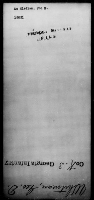 McClellan, Jno H - State: [Blank] - Year: [Blank]