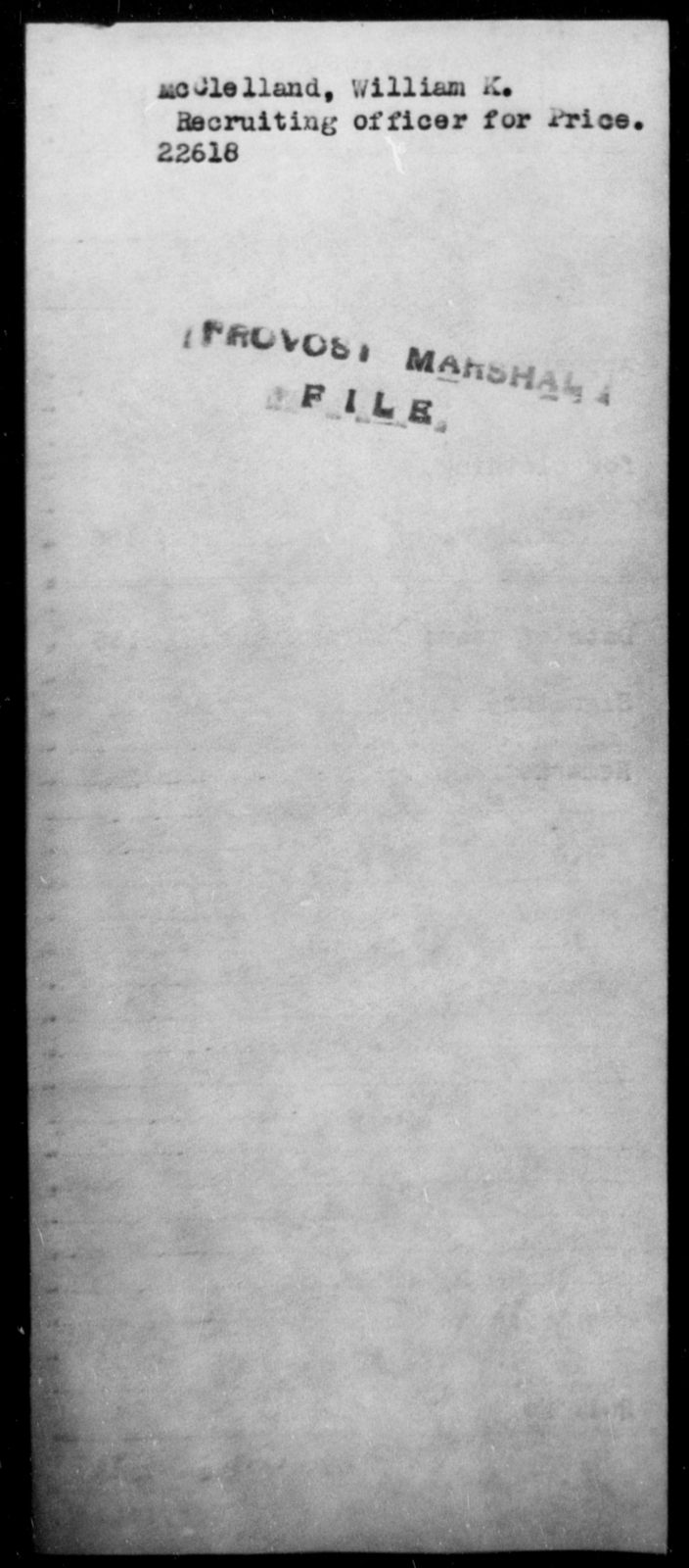 McClelland, William K - State: [Blank] - Year: [Blank]