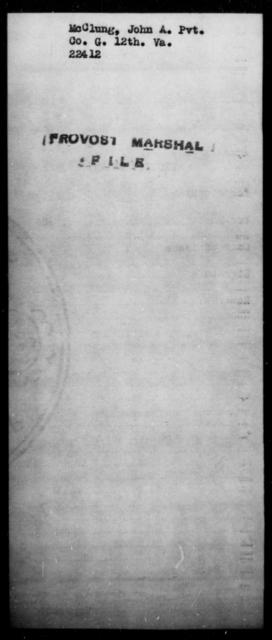 McClung, John A - State: Virginia - Year: [Blank]