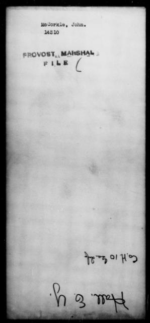 McCorkle, John - State: Missouri - Year: 1864