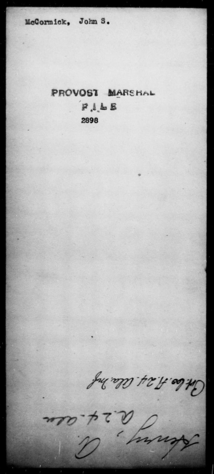 McCormick, John S - State: [Blank] - Year: [Blank]
