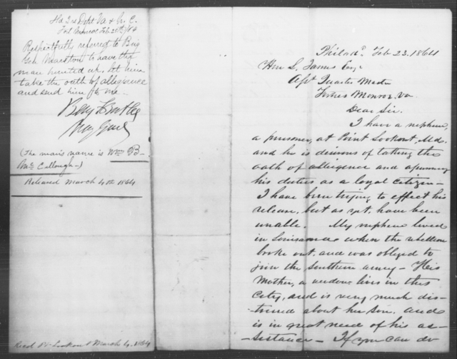 McCullough, Wm B - State: Virginia - Year: 1864