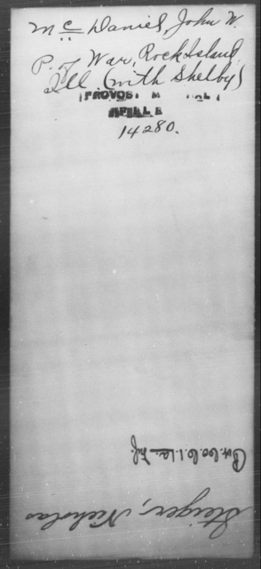 McDaniel, John W - State: Illinois - Year: [Blank]