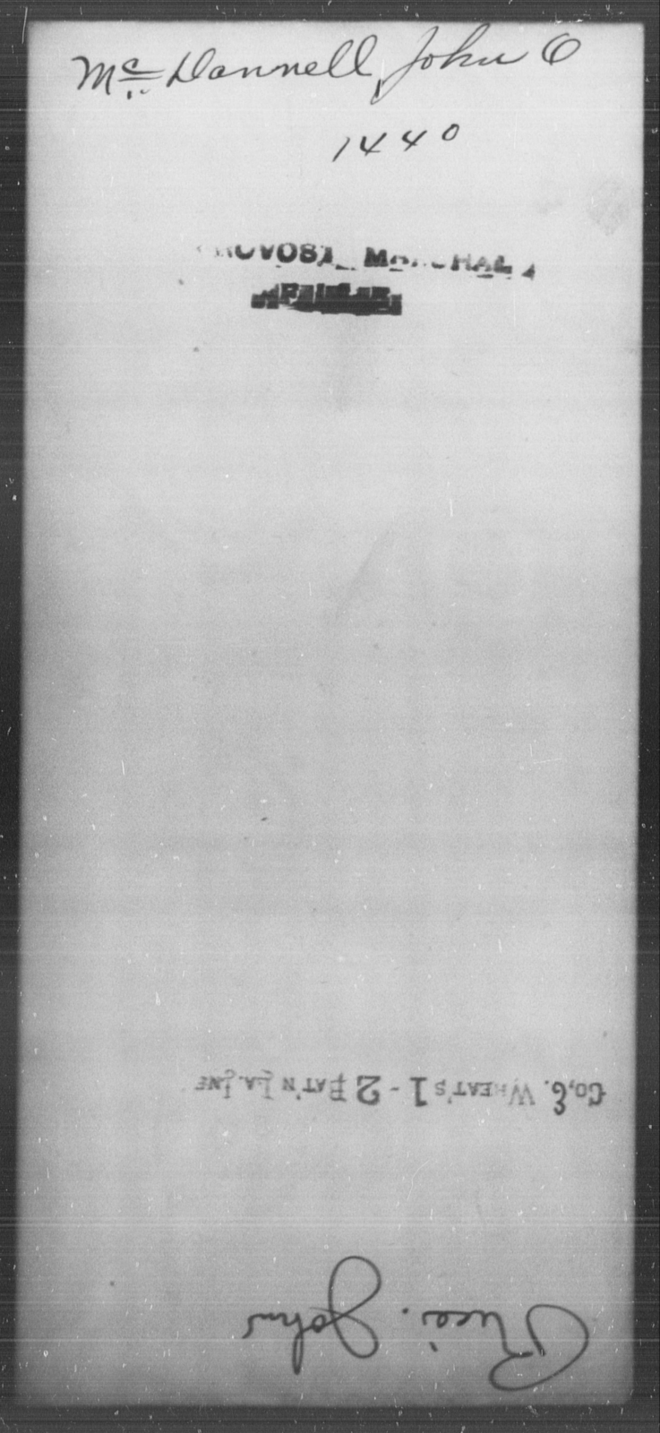 McDannell, John O - State: [Blank] - Year: [Blank]