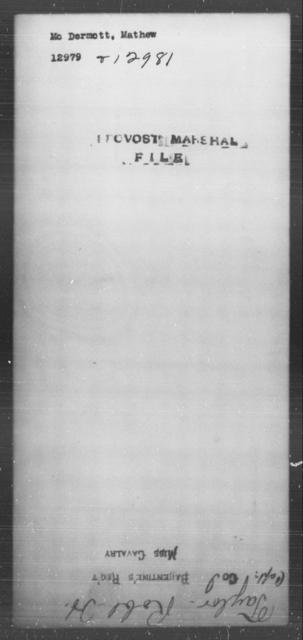 McDermott, Mathew - State: [Blank] - Year: [Blank]