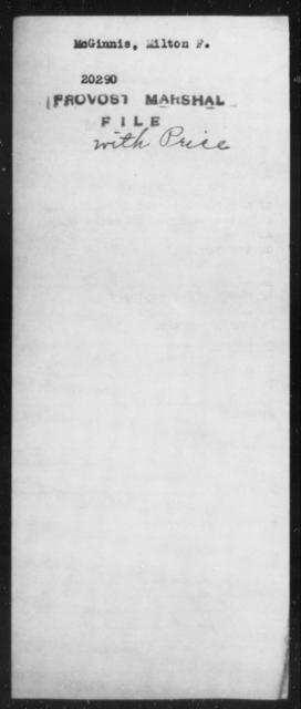 McGinnis, Milton F - State: [Blank] - Year: [Blank]