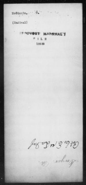 McGinnis, T - State: [Blank] - Year: [Blank]