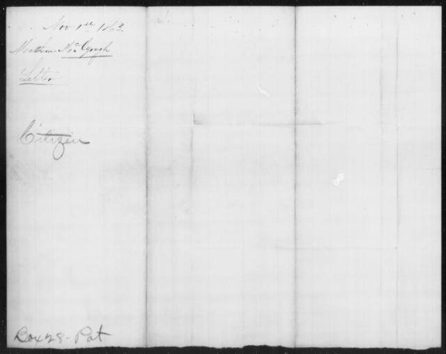McGough, Mathew - State: [Blank] - Year: 1863