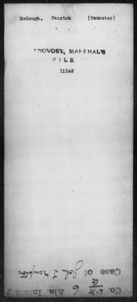 McGough, Patrick - State: [Blank] - Year: [Blank]