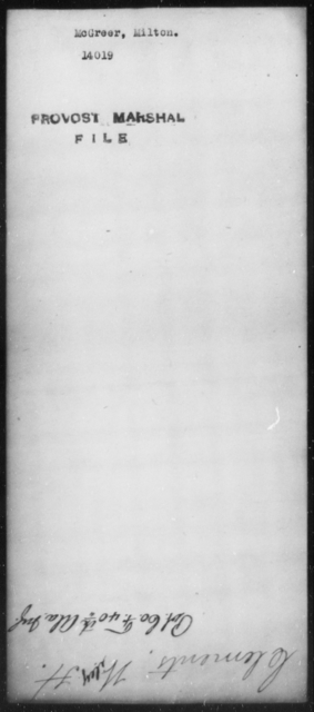 McGreer, Milton - State: [Blank] - Year: [Blank]