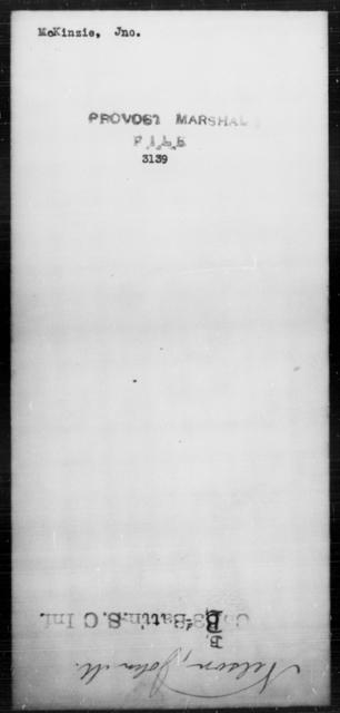 McKinzie, Jno - State: [Blank] - Year: [Blank]