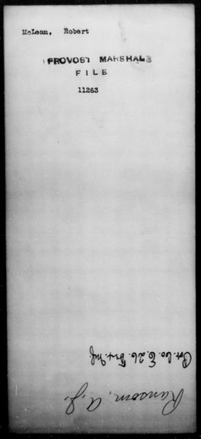 McLean, Robert - State: [Blank] - Year: [Blank]