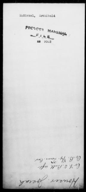 McMickel, Archibald - State: Missouri - Year: [Blank]
