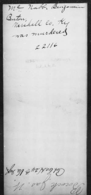 McNabb, Benjamin - State: Kentucky - Year: [Blank]