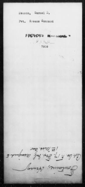 Meason, Samuel D - State: [Blank] - Year: [Blank]