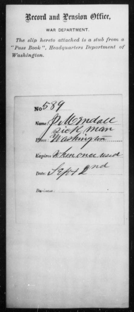 Mendall, J - State: Washington - Year: [Blank]