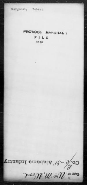 Merganst, Robert - State: [Blank] - Year: [Blank]