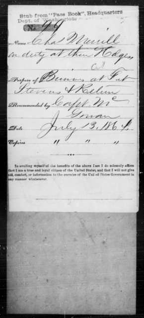 Merrill, Chas - State: [Blank] - Year: 1864