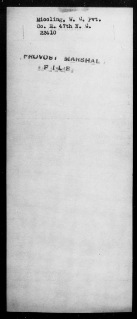 Miccling, W C - State: [Blank] - Year: [Blank]