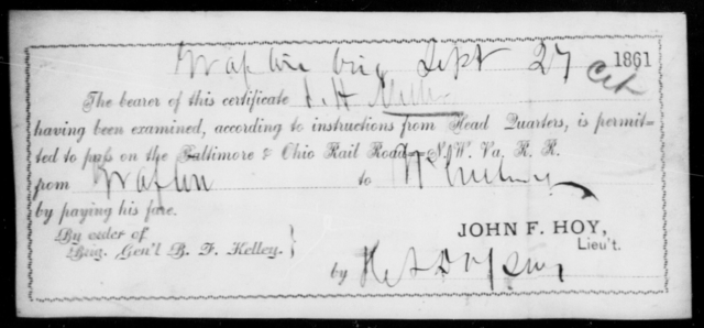 Miller, J H - State: Ohio - Year: 1861