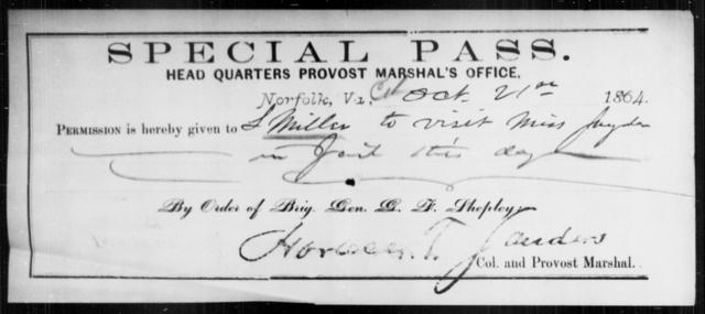Miller, L - State: Virginia - Year: 1864