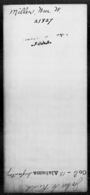 Miller, Wm W - State: [Blank] - Year: [Blank]