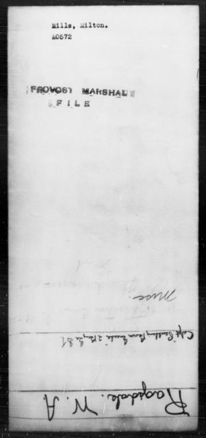 Mills, Milton - State: [Blank] - Year: [Blank]