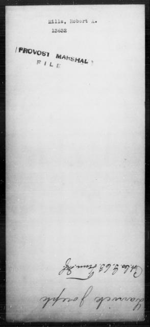 Mills, Robert A - State: [Blank] - Year: [Blank]