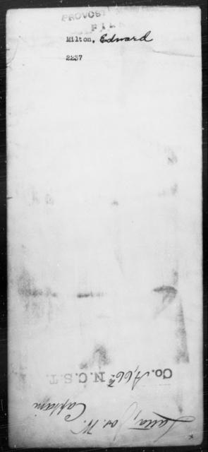 Milton, Edward - State: [Blank] - Year: [Blank]