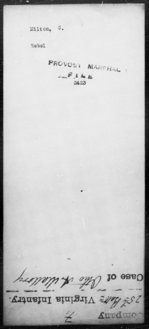 Milton, G - State: [Blank] - Year: [Blank]