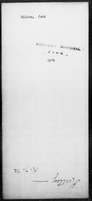 Milton, Jack - State: [Blank] - Year: [Blank]