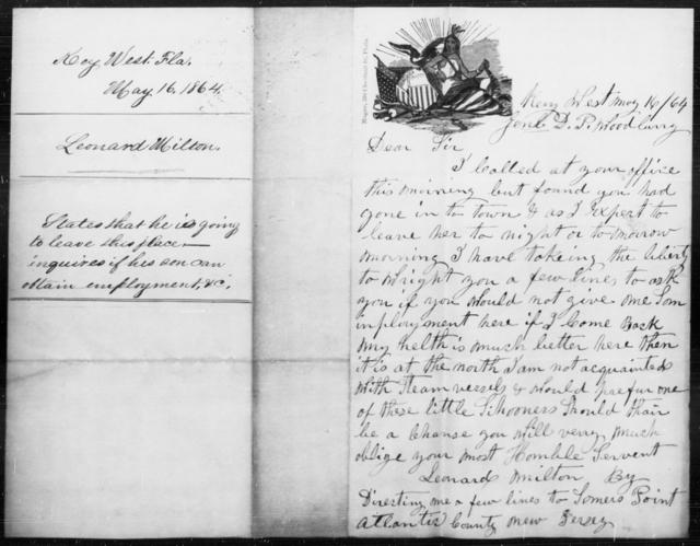 Milton, Leonard - State: Kentucky - Year: 1864