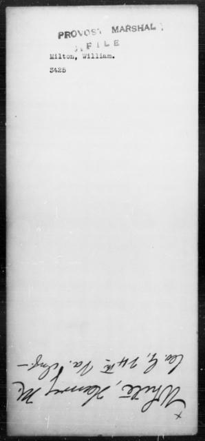Milton, William - State: [Blank] - Year: [Blank]