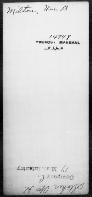 Milton, Wm B - State: [Blank] - Year: [Blank]