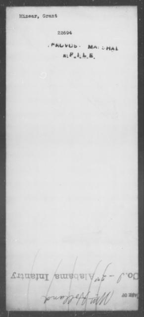 Minear, Grant - State: [Blank] - Year: [Blank]