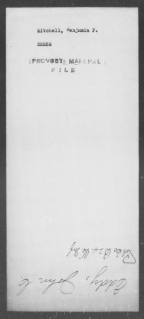 Mitchell, Benjamin P - State: [Blank] - Year: [Blank]