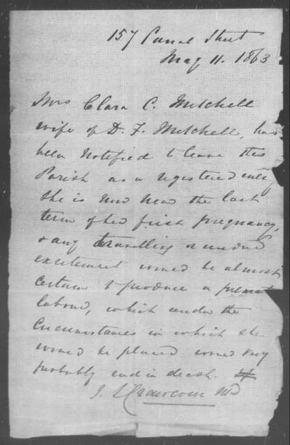 Mitchell, Clara C - State: [Blank] - Year: 1863
