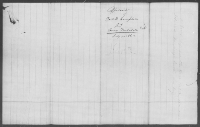 Mitchell, Dave - State: [Blank] - Year: 1862