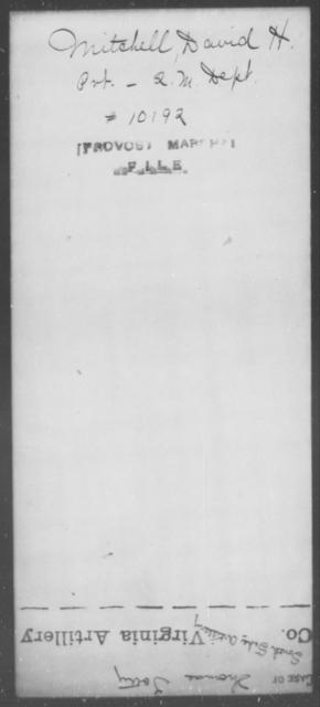 Mitchell, David H - State: [Blank] - Year: [Blank]