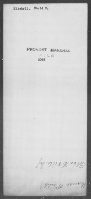 Mitchell, David R - State: [Blank] - Year: [Blank]
