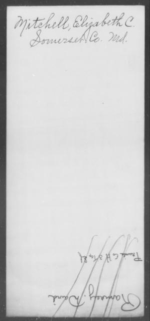 Mitchell, Elizabeth C - State: Maryland - Year: [Blank]