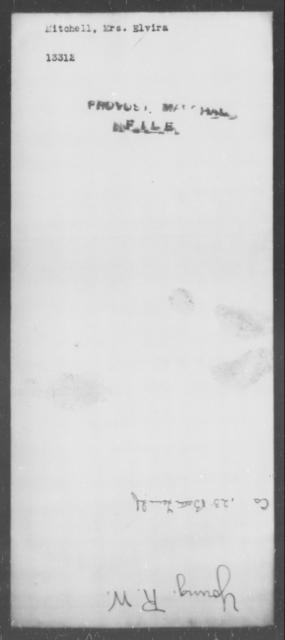 Mitchell, Elvira - State: [Blank] - Year: [Blank]