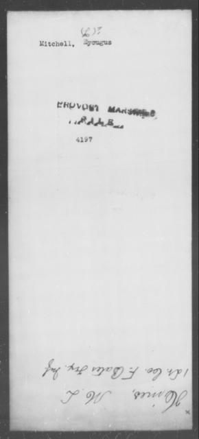 Mitchell, Eycugus - State: [Blank] - Year: [Blank]