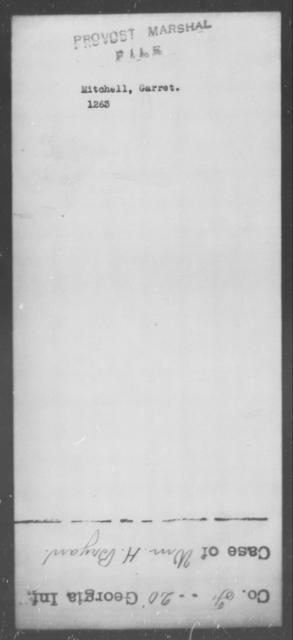 Mitchell, Garret - State: [Blank] - Year: [Blank]