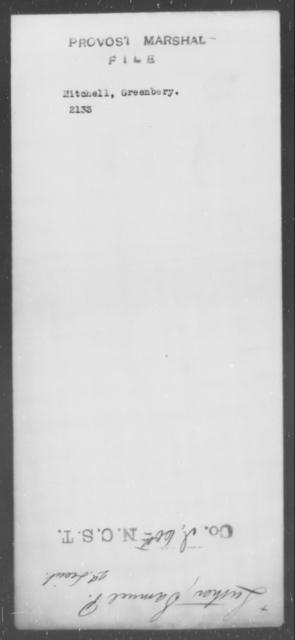 Mitchell, Greenbery - State: [Blank] - Year: [Blank]